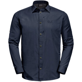 Jack Wolfskin Lakeside Roll-Up Maglietta a maniche lunghe Uomo, nero